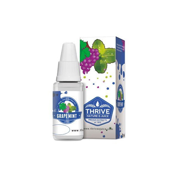 Líquido para E-cig 10ml | Grape Mint (Uva Menta) | 0mg de Nicotina | 70/30 [Thrive] | Apegos Perú