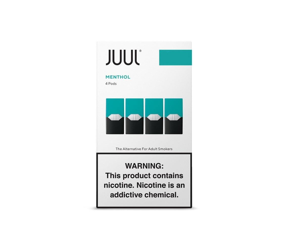 Juul Pods (4 Pack) | Menthol | 5% de Sales de Nicotina [Juul] | Apegos Perú