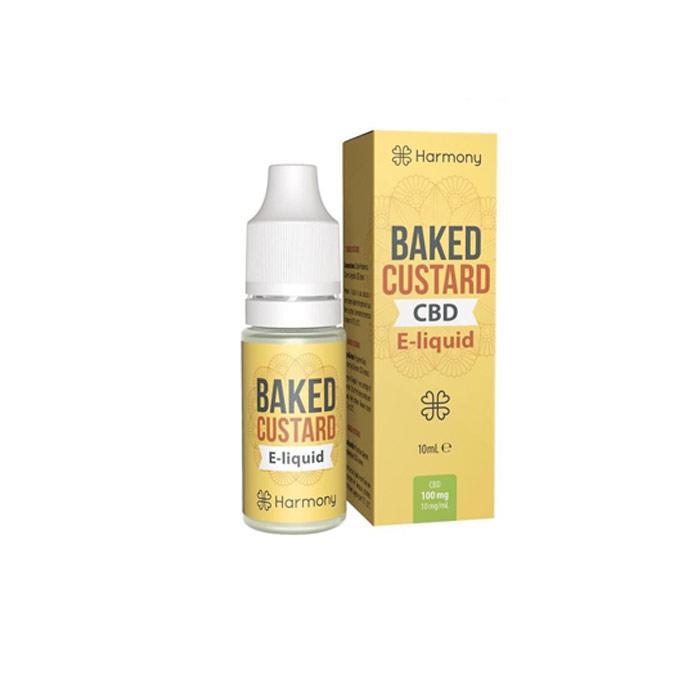 Líquido para E-cig 10ml | Baked Custard | 30mg de CBD [Harmony] | Apegos Perú