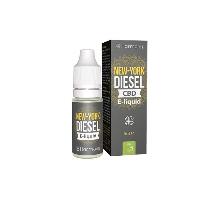 Líquido para E-cig 10ml | New York Diesel | 100mg de CBD [Harmony] | Apegos Perú