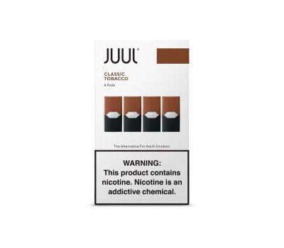 Juul Pods (4 Pack) | Classic Tobacco | 3% de Sales de Nicotina [Juul] | Apegos Perú