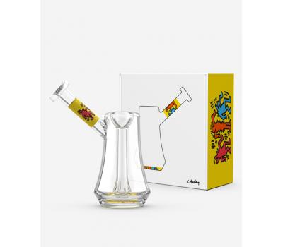 Pipa de Agua o Bubbler   Vidrio   Amarillo [K.Haring]   Apegos Perú