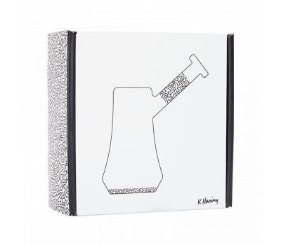 Bubbler de Vidrio - Negro con Blanco [K.Haring] | Apegos Perú