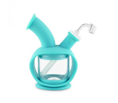 Bubbler de Vidrio y Silicona | Verde 14.5mm Hembra [Ooze] | Apegos Perú