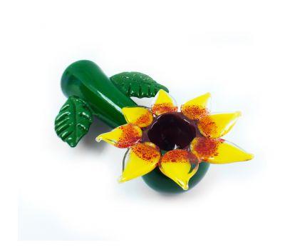"Pipa Girasol   Vidrio   5.5"" [GlassPipes]   Apegos Perú"